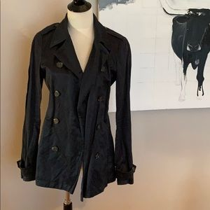 Gryphons black trench coat M